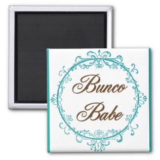 bunco babe 2 inch square magnet
