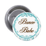 bunco babe pinback buttons