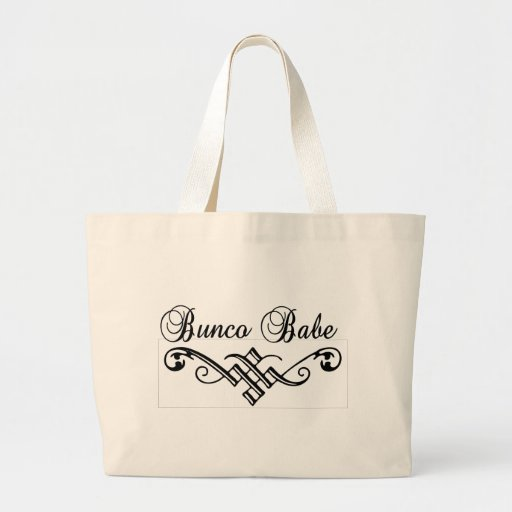 bunco babe with black lettering tote bag