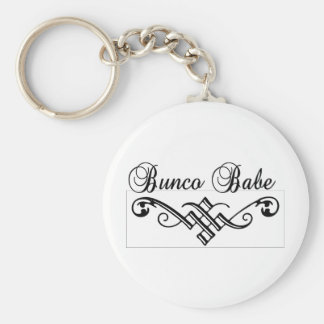 bunco babe with black lettering keychain