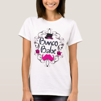 Bunco Babe with Pink Top Hat and Pink Mustache