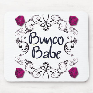 Bunco Babe with Swirls Button Mouse Pad