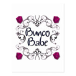 Bunco Babe with Swirls Button Post Cards