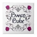 Bunco Babe with Swirls Ceramic Tile