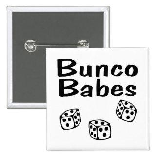 Bunco Babes 2 Inch Square Button