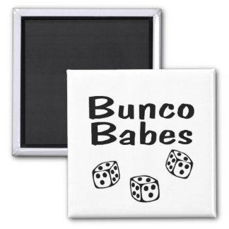 Bunco Babes 2 Inch Square Magnet