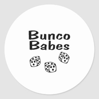 Bunco Babes Classic Round Sticker