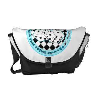 Bunco Babes Roll With It - Blue Courier Bag