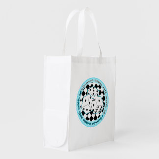 Bunco Babes Roll With It - Blue Reusable Grocery Bag