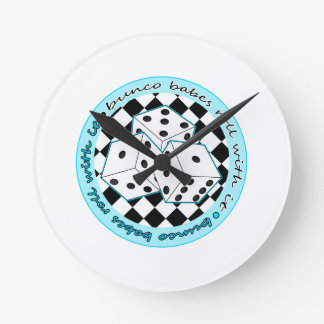 Bunco Babes Roll With It - Blue Round Clock