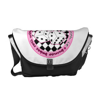 Bunco Babes Roll With It - Pink Courier Bag