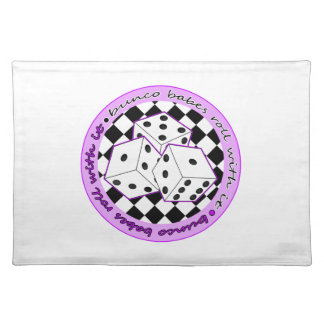 Bunco Babes Roll With It - Purple Placemat
