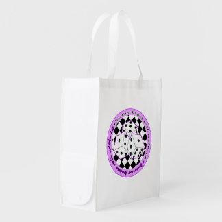 Bunco Babes Roll With It - Purple Reusable Grocery Bags