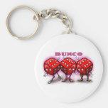 Bunco Basic Round Button Keychain