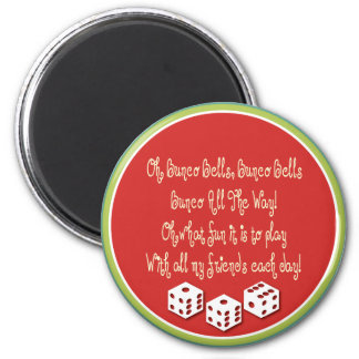 bunco bells, bunco bells 2 inch round magnet