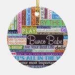 Bunco Best Ceramic Ornament