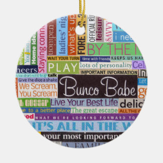 Bunco Best Double-Sided Ceramic Round Christmas Ornament