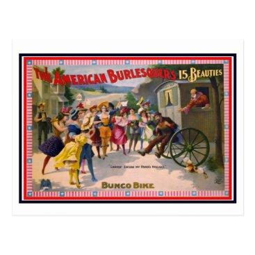 USA Themed Bunco Bike Postcard