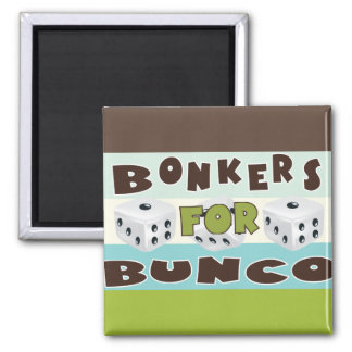 bunco bonkers 2 inch square magnet