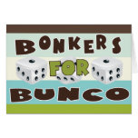 bunco bonkers greeting card