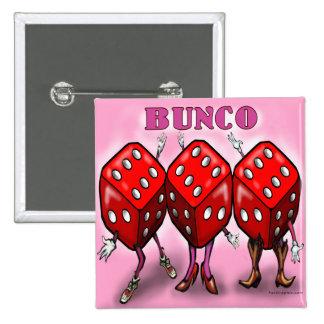 Bunco 2 Inch Square Button