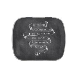 Bunco Chalkboard Design Candy Tin