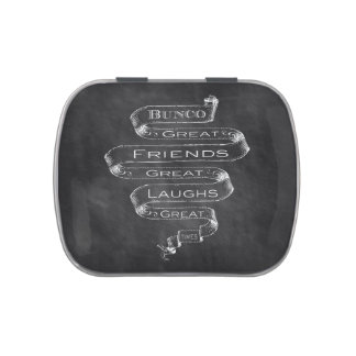 Bunco Chalkboard Design Jelly Belly Tins