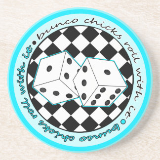 Bunco Chicks Roll With It - Blue Coaster