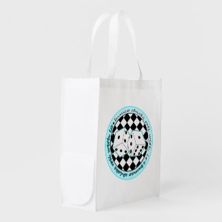 Bunco Chicks Roll With It - Blue Grocery Bag