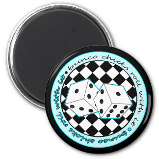 Bunco Chicks Roll With It - Blue Magnet