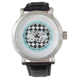 Bunco Chicks Roll With It - Blue Watches