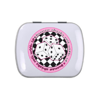Bunco Chicks Roll With It - Pink Jelly Belly Candy Tins