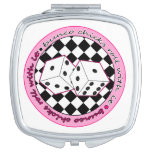 Bunco Chicks Roll With It - Pink Makeup Mirrors