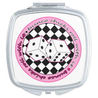 Bunco Chicks Roll With It - Pink Mirror For Makeup