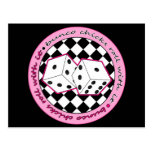 Bunco Chicks Roll With It - Pink Post Cards