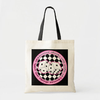 Bunco Chicks Roll With It - Pink Tote Bag