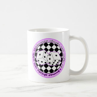 Bunco Chicks Roll With It - Purple Coffee Mug