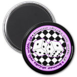 Bunco Chicks Roll With It - Purple Magnet