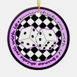 Bunco Chicks Roll With It Purple - One Sided Christmas Ornament