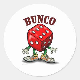 Bunco Classic Round Sticker