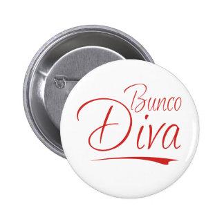 bunco diva 2 inch round button