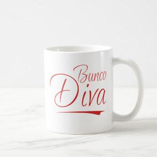 bunco diva classic white coffee mug