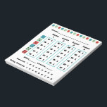 "Bunco Dots Bunco Score Card Notepad<br><div class=""desc"">Add some color and fun to your Bunco life with this wonderful Bunco Score Card or Bunco Score Pad. Colorful geometric design. Features easy to use win and loss columns. Simply circle your (w) win or (l) loss at the end of each round. After all rounds have been played simply...</div>"