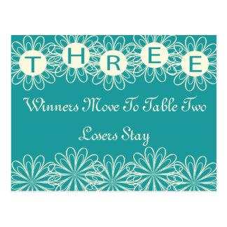 Bunco florece la tarjeta #3 de la tabla postal