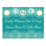 Bunco Flowers Table Card #1 Post Cards