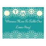 Bunco Flowers Table Card #2 Post Cards