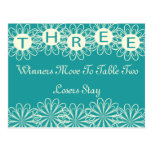 Bunco Flowers Table Card #3 Postcards
