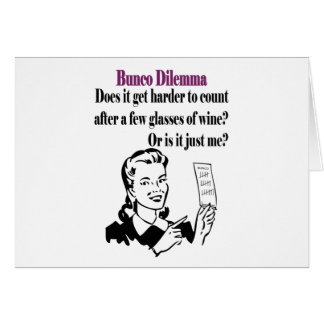 Bunco - Funny Dilema Card