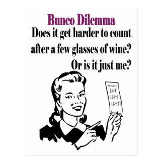 Bunco - Funny Dilema Postcard