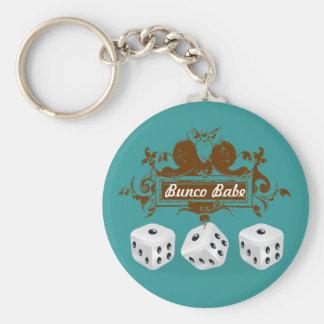 bunco game design basic round button keychain